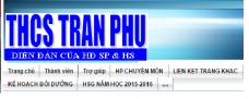 THCS TRAN PHU WEBSITE 2017