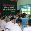 Tin ghi nhanh về việc kiểm tra công nhận trường THCS TrầnPhú đạt chuẩn Quốc gia